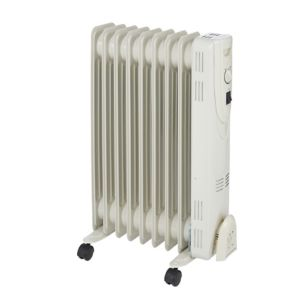 Image of Electric 2000W Off-white Oil-filled radiator