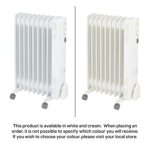 Image of Electric 2000W Beige Oil Filled Radiator