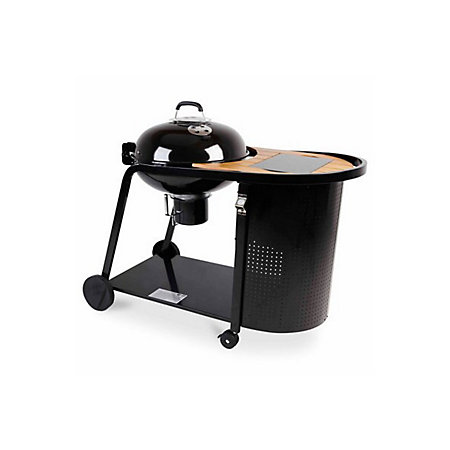 Blooma kinley charcoal kettle trolley barbecue for Housse blooma