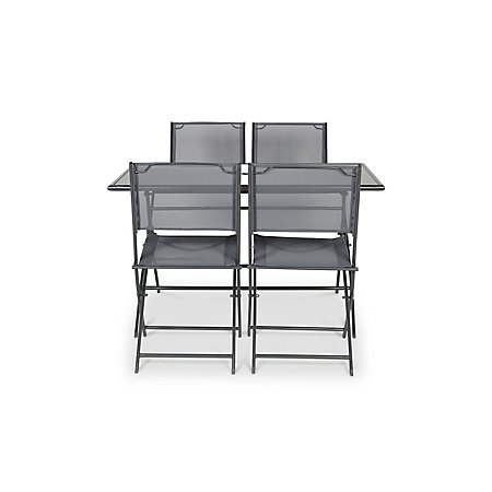 sibu metal 4 seater garden furniture set departments diy at bq - Garden Furniture 4 Seater