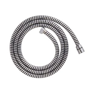 Image of Cooke & Lewis Black & silver PVC Shower hose 1.75m