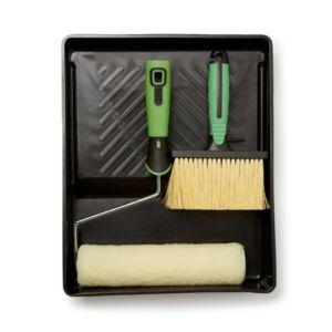 "Colours 9"" Plastic Tray Masonry Brush & Roller Set"