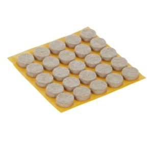Image of Beige Felt Protection pad (Dia)13mm Pack of 25