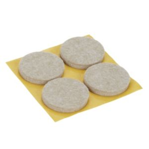 Image of Beige Felt Protection pad (Dia)34mm Pack of 4