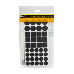 Image of B&Q Black Felt pad Pack of 80