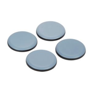Image of B&Q Black & grey PTFE Glide with glue (Dia)40mm Pack of 4