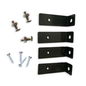 Image of Blooma Steel L bracket for steel fence post (L)20mm (W)20mm