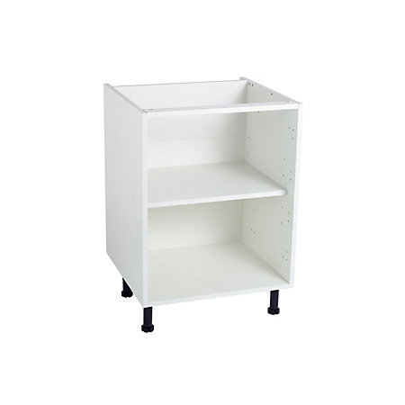 Cooke lewis white standard base cabinet unit carcass w for Kitchen base unit carcass