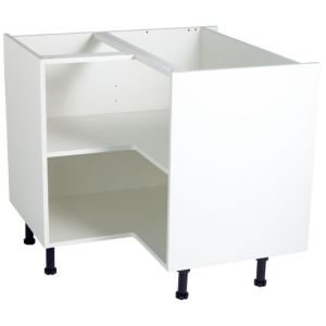 Cooke lewis white corner base cabinet unit carcass w for Kitchen base unit carcass