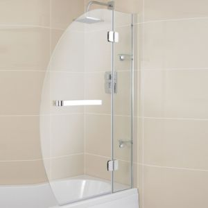 View Cooke & Lewis Folding Oval Bath Screen (W)950mm details
