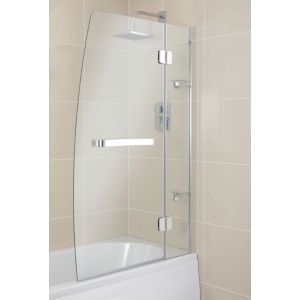 View Cooke & Lewis Folding Sail Bath Screen (W)950mm details