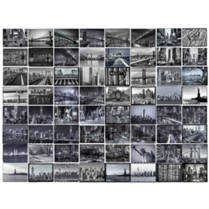 Image of 1Wall Black & Grey New York City 64 Piece Wallpaper Collage