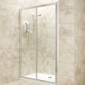 View B&Q Single Sliding Shower Door (W)1200mm details