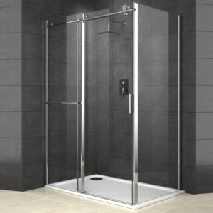 View Cooke & Lewis Eclipse Rectangular Shower Enclosure with Single Sliding Door (W)1200mm (D)800mm details