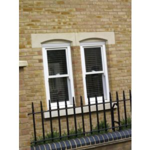 View Glazed White Timber Inward Tilting Sliding Sash Window (H)1050mm (W)635mm details