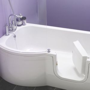 View Cooke & Lewis Leonato LH Acrylic P-Shaped Shower Bath (L)1675mm (W)850mm details