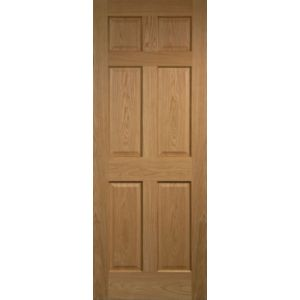 View 6 Panel Internal Fire Door, (H)1981mm (W)762mm details
