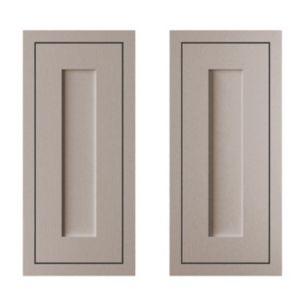 Cooke & Lewis Carisbrooke Taupe Framed Corner Base Door (W)925mm  Set of 2