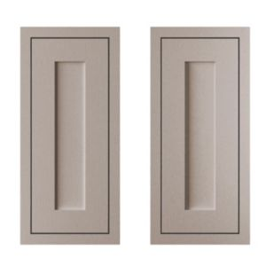 View Cooke & Lewis Carisbrooke Taupe Framed 925mm Base Corner Door, PACK EE, Set of 2 details