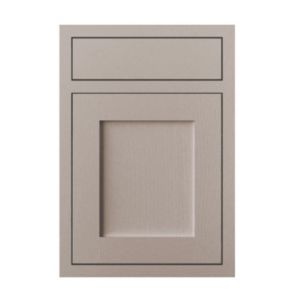 View Cooke & Lewis Carisbrooke Taupe Framed 500mm Drawerline Door & Drawer Front, PACK Q, Set of 2 details