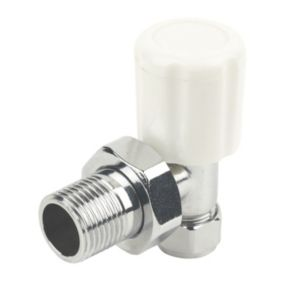 View Plumbsure Angled Chrome Effect Radiator Valve (Dia)10mm details