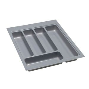 View B&Q Grey Stainless Steel Effect Plastic Kitchen Utensil Tray details