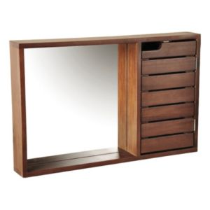 View Cooke & Lewis Velon Single Door Walnut Effect Mirror Cabinet details