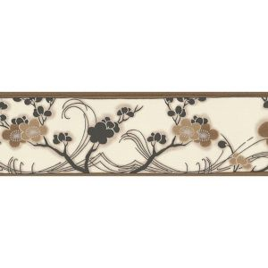 View A.S. Creation Bonsai Beige & Brown Floral Border details