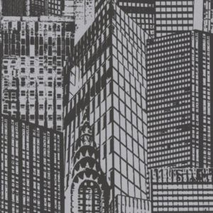View Lutece Paste The Wall Cityscape Black & White Wallpaper details