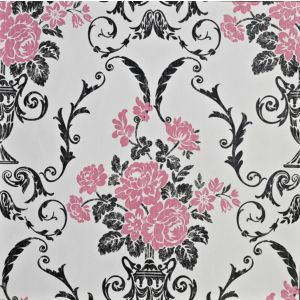 View Beatrice Damask Black & Pink Wallpaper details