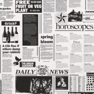 View Newspaper Print Black & White Wallpaper details