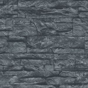 View A.S. Creation Murano Stone Black Wallpaper details
