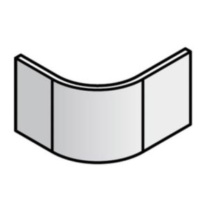 View Cooke & Lewis Gloss White Curved End Plinth details