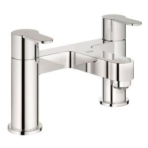 View Grohe Cosmo Chrome Effect Deck Mounted Bath Filler Mixer Tap details