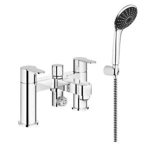 View Grohe Cosmo Chrome Effect Deck Mounted Bath & Shower Mixer Tap details