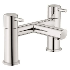 View Grohe Feel Chrome Effect Deck Mounted Bath Filler Mixer Tap details