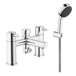 View Grohe Feel Chrome Effect Deck Mounted Bath & Shower Mixer Tap details
