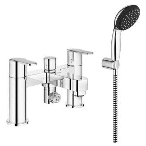 View Grohe Get Chrome Effect Deck Mounted Bath & Shower Mixer Tap details