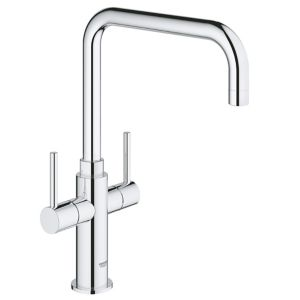 Image of Grohe Ambi Chrome effect Kitchen Monobloc Mixer tap