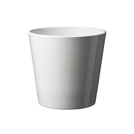 Basel Glazed White Plant Pot H 340mm Dia 360mm