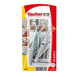 Image of Fischer Nylon plug (Dia)8mm (L)40mm Pack of 10