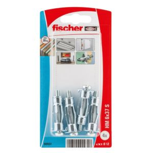 Image of Fischer Steel Hollow Wall Anchor Pack of 4