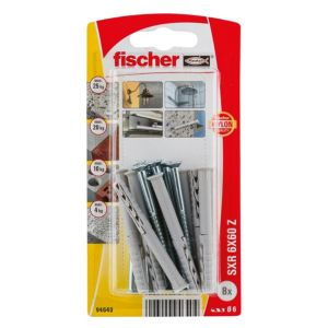Image of Fischer Frame Fixing (Dia)6mm (L)60mm Pack of 8