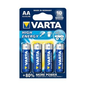Varta High Energy AA Alkaline Battery  Pack of 4