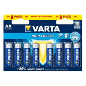 Varta High Energy AA Alkaline Battery  Pack of 8