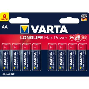 Image of Varta Longlife Max Power AA Alkaline Battery Pack of 8