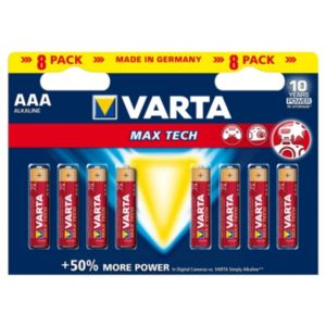 Image of Varta Longlife Max Power AAA Alkaline Battery Pack of 8