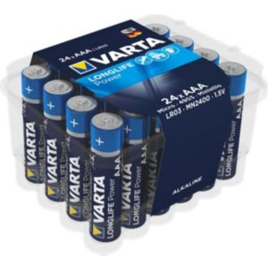 Image of Varta Longlife Power AAA Alkaline Battery Pack of 24