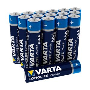 Image of Varta Longlife power Non rechargeable AAA Alkaline Battery Pack of 16