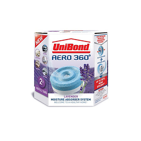 unibond aero 360 moisture absorber system lavender refill. Black Bedroom Furniture Sets. Home Design Ideas
